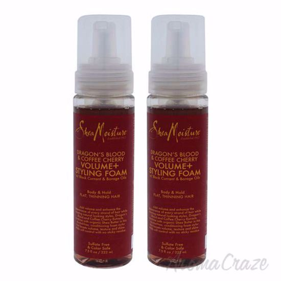 Picture of Dragons Blood and Coffee Cherry Volume and Styling Foam by Shea Moisture for Unisex - 7.5 oz Foam - Pack of 2