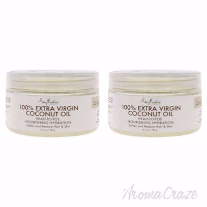 Picture of 100 Percent Extra Virgin Coconut Oil by Shea Moisture for Unisex - 3.2 oz Oil - Pack of 2