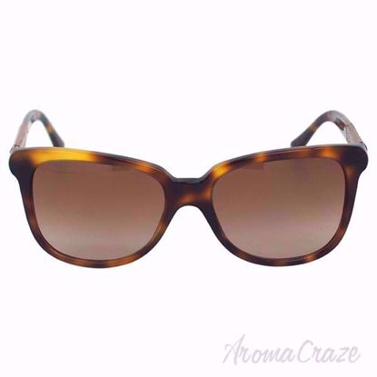 Burberry BE 4157 3316/13 Havana Brown Sunglasses for Women on SunglassCraze.com. 56-17-140 mm Sunglasses. Havana color frame with brown gradient lens of a cat eye shape.