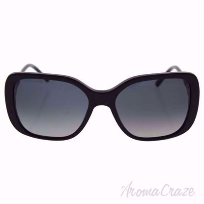 Burberry BE 4192 3001/T3 Black/Grey Gradient Polarized Eyeglasses for Women on SunglassCraze.com. 56-17-135 mm Sunglasses. Black color frame with gray gradient lens of a square shape.