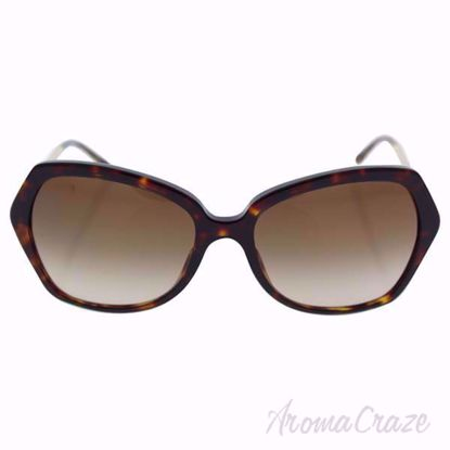 Burberry BE 4193 3002/13 - Dark Havana/Brown Gradient Sunglasses for Women on SunglassCraze.com. 57-17-135 mm Sunglasses. dark havana color frame with gradient brown lens of a round shape.