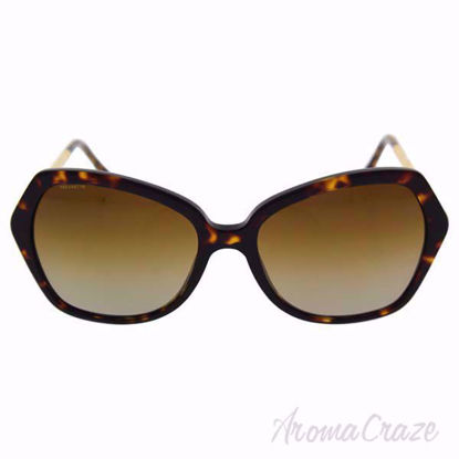 Burberry BE 4193 3002/T5 Dark Havana/Brown Gradient Polarized Sunglasses for Women on SunglassCraze.com