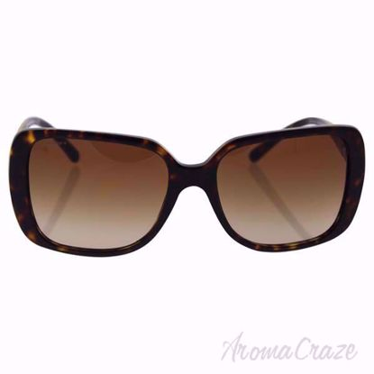Burberry BE 4198 3002/13 Dark Havana/Brown Gradient Sunglasses for Women on SunglassCraze.com. 57-17-140 mm Sunglasses. dark havana color frame with brown gradient lens of a square shape.