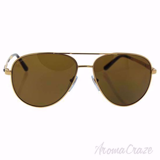Picture of Bvlgari BV5029K 391/83 - Gold Plated/Brown Polarized by Bvlgari for Men - 61-15-140 mm Sunglasses