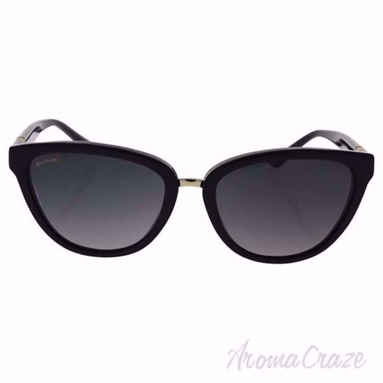 Picture of Bvlgari BV8165 501/T3 - Black/Grey Gradient Polarized by Bvlgari for Women - 56-18-135 mm Sunglasses