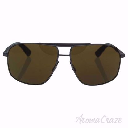 Picture of Dolce & Gabbana DG 2154 1288/73 - Gunmetal Rubber/Brown by Dolce & Gabbana for Men - 61-14-140 mm Sunglasses