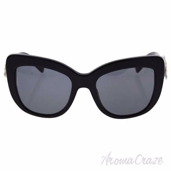Picture of Dolce and Gabbana DG 4252 921/81 - Black/Polar Grey Polarized by Dolce and Gabbana for Women - 55-20-140 mm Sunglasses