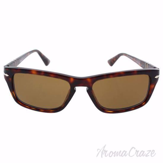 Picture of Persol PO3074S 24/57 - Havana/Brown Polarized by Persol for Unisex - 55-18-140 mm Sunglasses