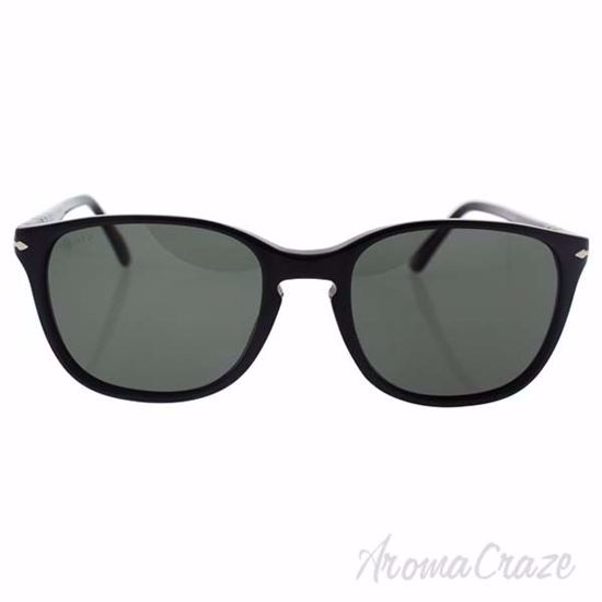Picture of Persol PO3133S 9014/58 - Black/Green Polarized by Persol for Unisex - 52-18-145 mm Sunglasses