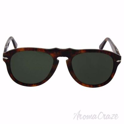 Persol PO649 108/58 - Caffe/Green Polarized by Persol for Me