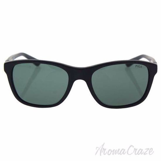 Picture of Polo Ralph Lauren PH 4085 5284/71 - Matte Black/Green by Polo Ralph Lauren for Men - 55-19-140 mm Sunglasses