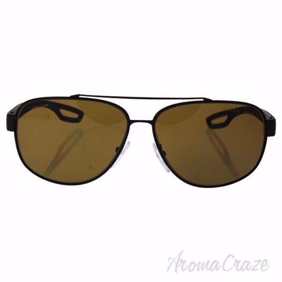 Picture of Prada SPS 58Q DG0-5Y1 - Black Rubber/Brown Polarized by Prada for Men - 60-12-140 mm Sunglasses