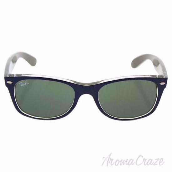 Ray Ban Sunglasses RB 2132 New Wayfarer 6188 Blue/Green Classic by Ray-Ban Sunglasses for Men 52-18-145 mm Sunglasses on SunglassCraze.com