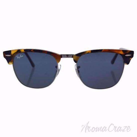 Ray Ban Sunglasses RB 3016 Clubmaster 1158/R5 Black Tortoise/Grey  for Unisex 51-21-145 mm on SunglassCraze.com.