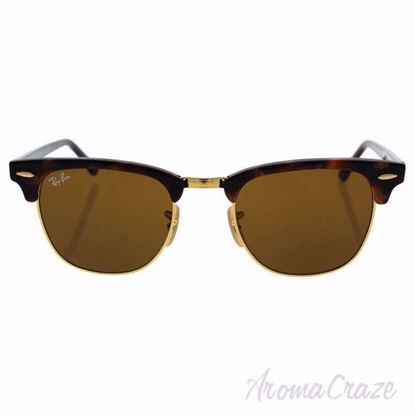 Picture of Ray Ban RB 3016 Clubmaster 1160 - Tortoise-Black/Brown by Ray Ban for Unisex - 49-21-140 mm Sunglasses