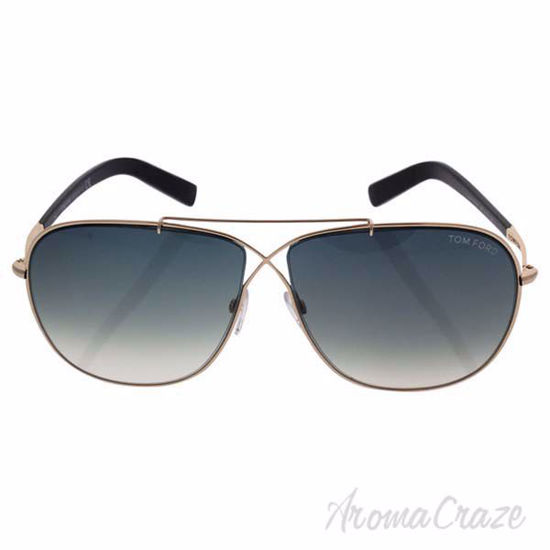 Picture of Tom Ford FT0393 28P April - Shiny Rose Gold/Gradient Green by Tom Ford for Men - 61-10-145 mm Sunglasses