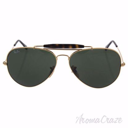 Picture of Ray Ban RB 3029 181 Outdoorsman II - Gold/Green by Ray Ban for Men - 62-14-140 mm Sunglasses