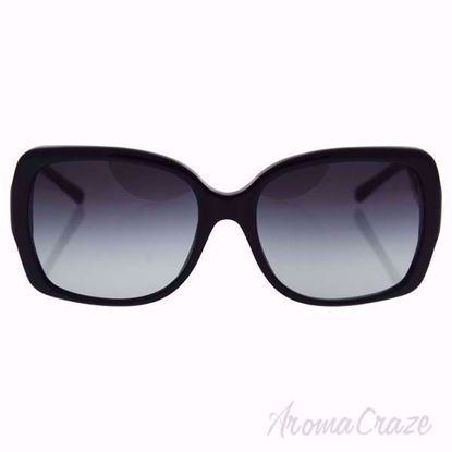 Burberry BE 4160 3001/8G Black/Grey Gradient Women Sunglasses on SunglassCraze.com. 58-17-135 mm Sunglasses. Black color frame with gray gradient lens of a square shape.