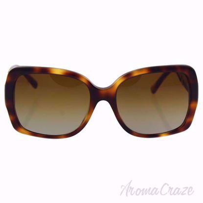 Burberry BE 4160 3316/T5 Havana/Brown Gradient Polarized Sunglasses for Women on SunglassCraze.com. 58-17-135 mm Sunglasses.  Havana color frame with brown shaded gradient lens of a square shape.