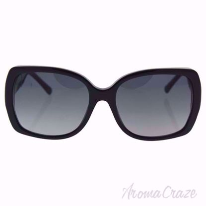 Burberry BE 4160 3433/T3 Black/Grey Gradient Polarized Sunglass for Women on SunglassCraze.com.  58-17-135 mm Sunglasses. Black color frame with gray gradient lens of a square shape.