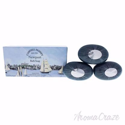 Newport Bath Soap Set by Caswell-Massey for Unisex - 3 x 5.8