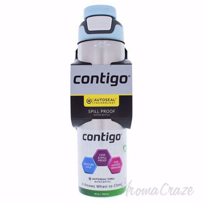 Picture of Autoseal Chill Stainless Steel Hydration Bottle - Iced Aqua by Contigo for Unisex - 24 oz Bottle