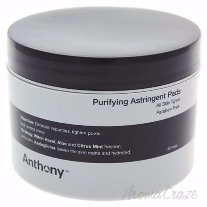 Astringent Toner Pads by Anthony for Men - 60 Count Pads