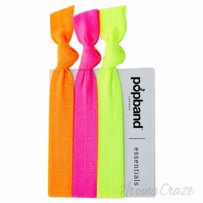 Picture of Essential Hair Bands - Neon Orage by Popband for Women - 3 Pc Hair Bands