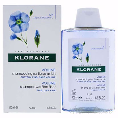 Shampoo with Flax Fiber by Klorane for Unisex - 6.7 oz Shamp