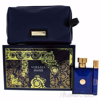 Picture of Dylan Blue by Versace for Men - 3 Pc Gift Set 3.4oz EDT Spray, 10ml EDT Spray, Blue Pouch