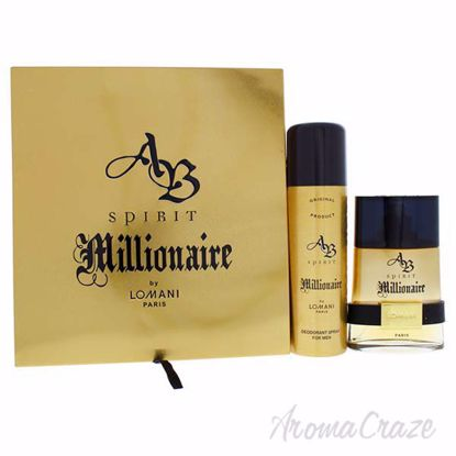 Picture of AB Spirit Millionaire by Lomani for Men - 2 Pc Gift Set 3.4oz EDT Spray, 6.8oz Deodorant Spray