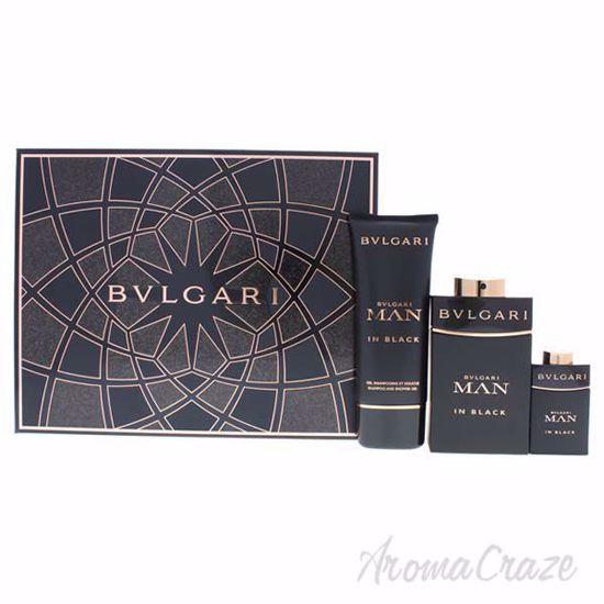 Bvlgari Man In Black by Bvlgari for Men - 3 Pc Gift Set 3.4o