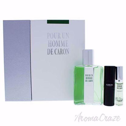 Pour Un Homme De Caron by Caron for Men - 3 Pc Gift Set 6.7o