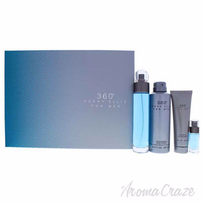 Picture of 360 by Perry Ellis for Men - 4 Pc Gift Set 3.4oz EDT Spray, 6.8oz Deodorizing Body Spray, 3.0oz Shower Gel, 0.25oz EDT Spray