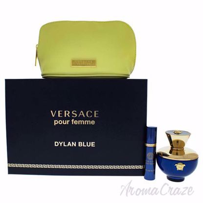 Picture of Dylan Blue by Versace for Women - 3 Pc Gift Set 3.4oz EDP Spray, 10ml EDP Spray, Pouch