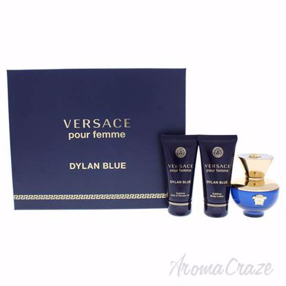Picture of Dylan Blue by Versace for Women - 3 Pc Gift Set 1.7oz EDP Spray, 1.7oz Shower Gel, 1.7oz Body Lotion