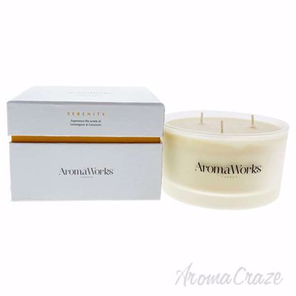 Serenity Candle 3 Wick Large by Aromaworks for Unisex - 1 Pc