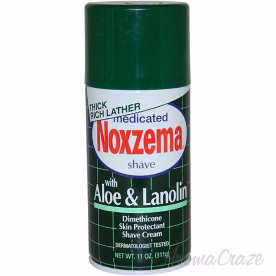 Medicated Shave Cream with Aloe and Lanolin by Noxzema for M