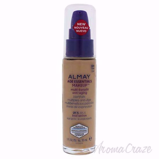 Almay Age Essentials Multi-Benefit Anti-Aging Makeup - 100 Fair by Almay for Women - 1 oz Foundation