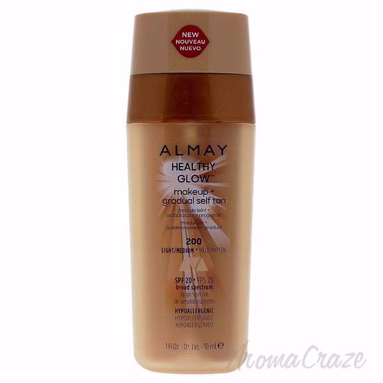 Picture of Healthy Glow Makeup Plus Gradual Self Tan - 200 Light-Medium by Almay for Women - 1 oz Foundation
