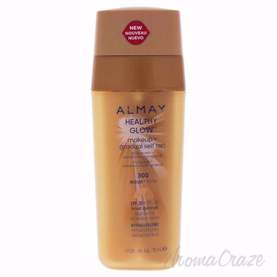 Picture of Healthy Glow Makeup Plus Gradual Self Tan - 300 Medium by Almay for Women - 1 oz Foundation