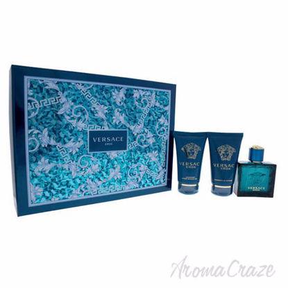 Versace Eros by Versace for Men - 3 Pc Gift Set 1.7oz EDT Sp