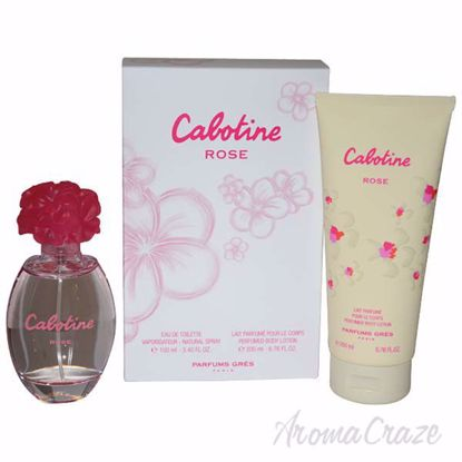 Cabotine Rose by Gres for Women - 2 Pc Gift Set 3.4oz EDT Sp