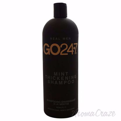 Real Men Mint Thickening Shampoo by GO247 for Men - 33.8 oz
