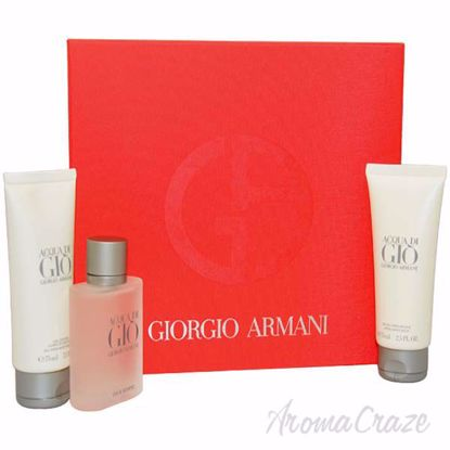 Picture of Acqua Di Gio by Giorgio Armani for Men - 3 Pc Gift Set 1.7oz EDT Spray, 2.5oz All Over Body Shampoo,
