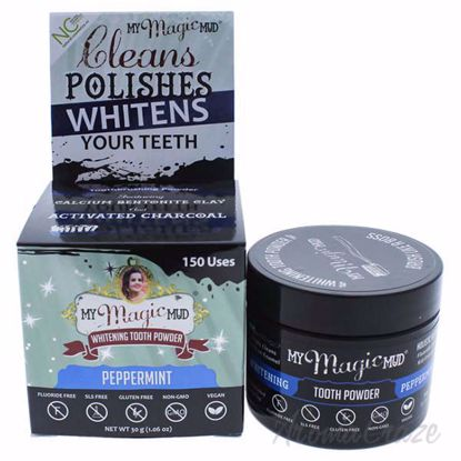 Picture of Whitening Tooth Powder - Peppermint by My Magic Mud for Unisex - 1.06 oz Tooth Powder
