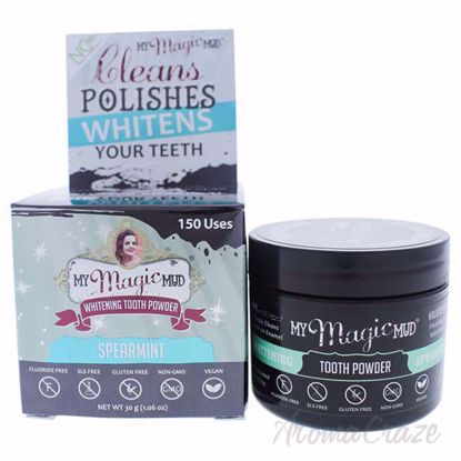 Picture of Whitening Tooth Powder - Spearmint by My Magic Mud for Unisex - 1.06 oz Tooth Powder