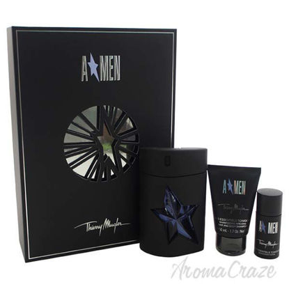 Picture of Angel by Thierry Mugler for Men - 3 Pc Gift Set 3.4oz EDT Spray (Refillable), 1.7oz Hair and Body Shampoo, 0.7oz Alcohol-Free Deodorant Stick
