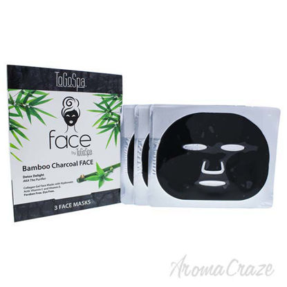 Bamboo Charcoal Face Collagen Gel Mask by To Go Spa for Unis