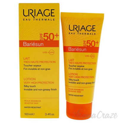 Bariesun Milk Lotion SPF 50 by Uriage for Unisex - 3.4 oz Su